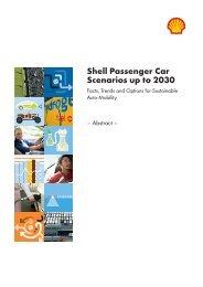 Shell Passenger Car Scenarios up to 2030