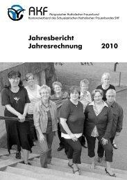Jahresbericht Jahresrechnung 2010 - Aargauischer Katholischer ...