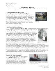 2010 Award Winners - Steamship Historical Society of America