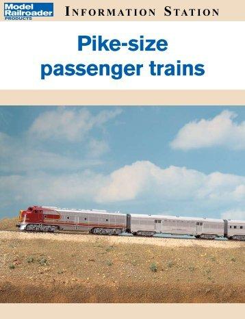 Pike-size passenger trains