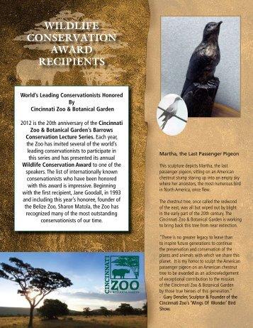 wildlife conservation award recipients - The Cincinnati Zoo ...