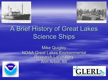 A Brief History of Great Lakes Science Ships