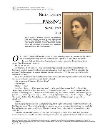 Passing: a novel