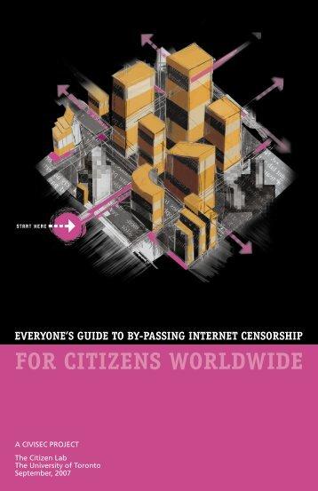 Everyone's Guide to Bypassing Internet Censorship - Nart Villeneuve