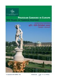 Prussian Gardens in Europe 300 Years of Garden History - Stiftung ...