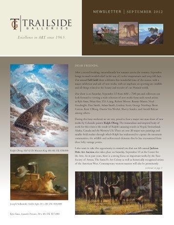 September 2012 - Trailside Galleries
