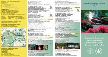 Botanischer Garten und Freundeskreis des Botanischen Gartens der ...