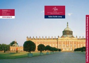 Sales Guide 2009 - Stiftung Preußische Schlösser und Gärten