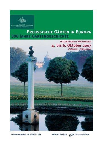 Preußische Gärten in Europa – 300 Jahre Gartengeschichte