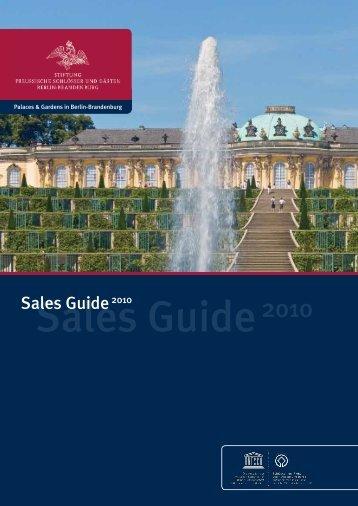 Sales Guide 2010 - Stiftung Preußische Schlösser und Gärten