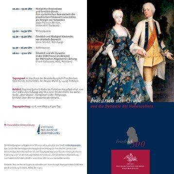 Friedrich der Große - Stiftung Preußische Schlösser und Gärten