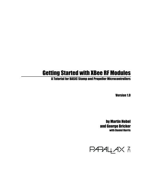 Getting Started with XBee RF Modules: A Tutorial for