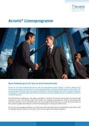 Acronis® Lizenzprogramm - Software-Express GmbH & Co. KG