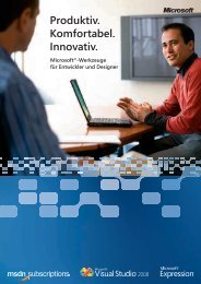 Visual Studio 2008 und MSDN -  Software-Express GmbH & Co. KG