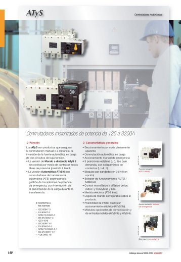 Conmutadores motorizados de potencia de 125 a 3200A - Socomec