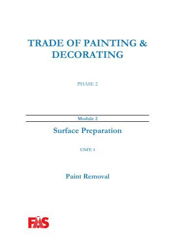 TRADE OF PAINTING & DECORATING - eCollege
