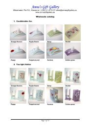 to download our wholesale catalogue of - Anna's Gift Gallery