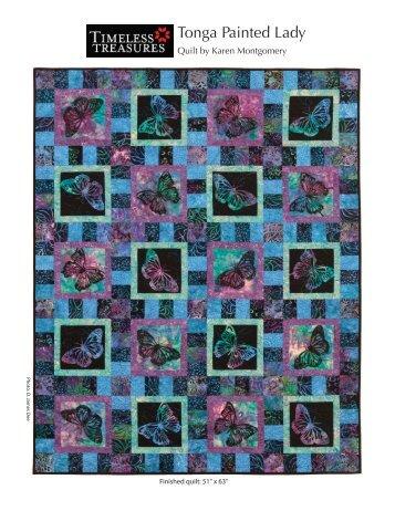 Tonga Painted Lady Quilt - Batiks Etcetera & Sew What Fabrics