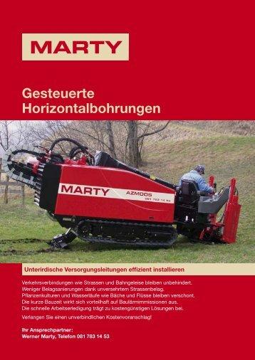 Gesteuerte Horizontalbohrungen - Werner Marty AG