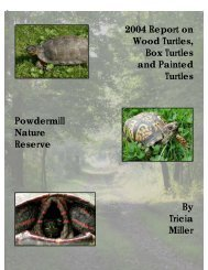 A Brief History of Powdermill Nature Reserve Turtle Project