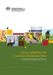 Survey guidelines for Australia's threatened birds - Department of ...