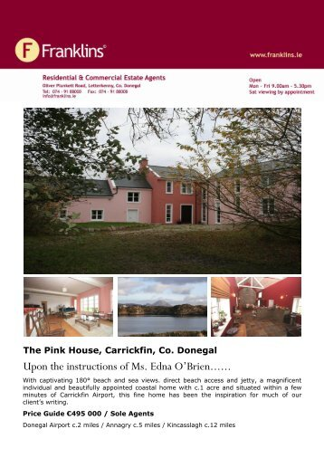 The Pink House, Carrickfin, Co. Donegal - Franklins.ie