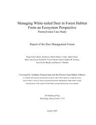 Managing White-tailed Deer in Forest Habitat From - Pennsylvania ...