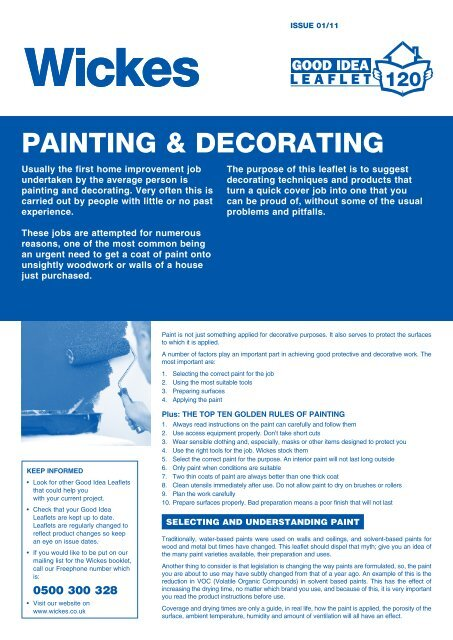 Painting Decorating Wickes