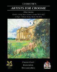 ARTISTS FOR CROOME - Christie's