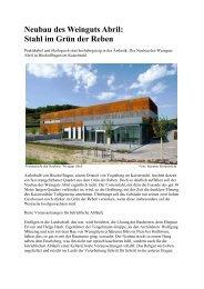 Neubau des Weinguts Abril - spuergin.com