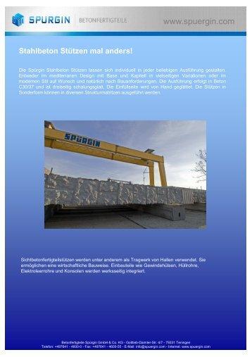 Produktdatenblatt Stütze - Betonfertigteile Spürgin GmbH & Co. KG
