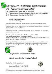 Turnierplan & Hinweise 20. F-/E-Juniorenturnier am - SpVgg-DJK ...