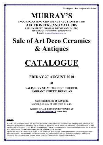 CATALOGUE - AntiqueMann