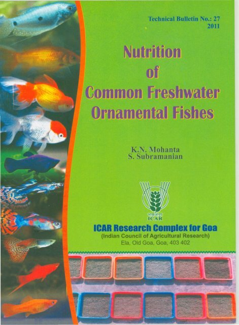 Nutrition of Common Freshwater Ornamental Fishes