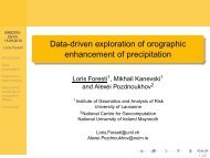 Data-driven exploration of orographic enhancement of precipitation