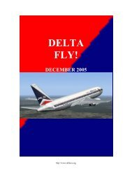 Planning Flights For Flight Simulator - Delta Virtual Airlines