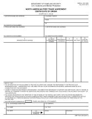 North American Free Trade Agreement Certificate Of Origin - Forms