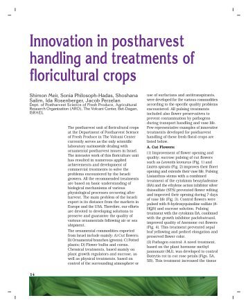Innovation in postharvest handling and treatments of floricultural crops
