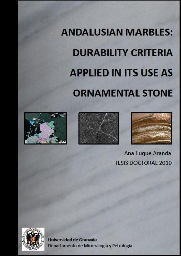 durability criteria applied in its use as ornamental stone