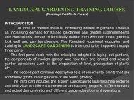 LANDSCAPE GARDENING TRAINING COURSE - KVK Baramati