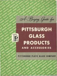 Pittsburgh Glass Products and Accessories - 1945