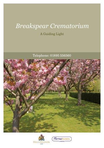 to view our brochure online - Breakspear Crematorium
