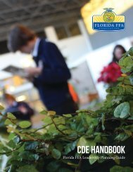CDE Handbook - Florida FFA Association