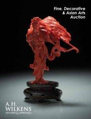 Fine, Decorative & Asian Arts Auction - A. H. Wilkens Auctions ...
