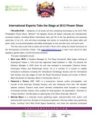 International Experts Take the Stage at 2013 Flower Show