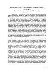 Introduction to Renaissance Ornamentation - American Recorder ...