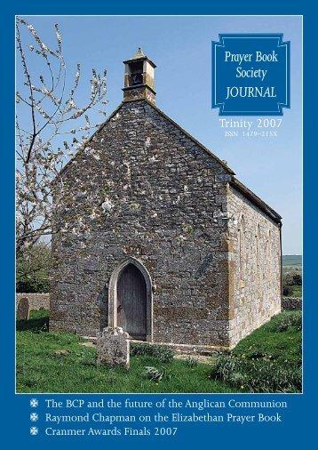Trinity 2007 - The Prayer Book Society