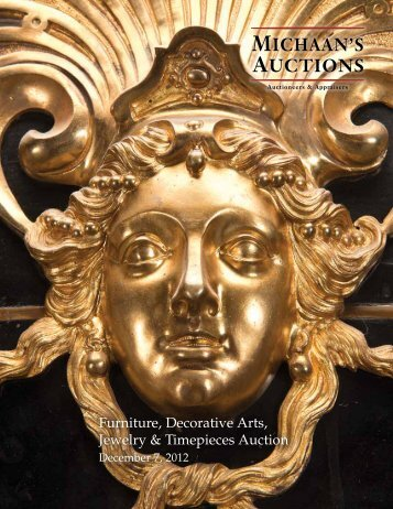 Furniture, Decorative Arts, Jewelry & Timepieces Auction December