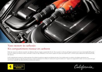 Vano motore in carbonio Kit compartiment moteur en carbone