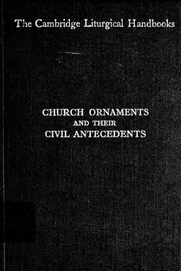 Church ornaments and their civil antecedents - Index of